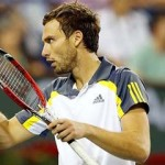 13 March, 2013:  Ernests Gulbis of Latvia in action against  Rafael Nadal of Spain during the BNP Paribas Open at Indian Wells Tennis Garden in Indian Wells CA.