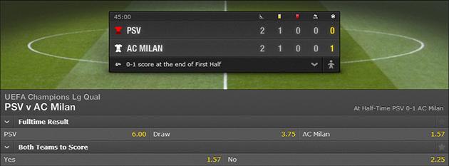 PSV-AC Milan