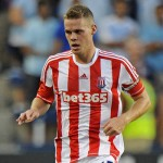KANSAS CITY, KS - AUGUST 01:  Defender Ryan Shawcross #17 of Stoke City passes the ball up the field against Sporting Kansas City during the first half on August 1, 2012 at LiveStrong Sporting Park in Kansas City, Kansas.  (Photo by Peter Aiken/Getty Images)