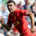 PRESTON, LANCASHIRE - JULY 13:  (THE SUN OUT, THE SUN ON SUNDAY OUT) Iago Aspas of Liverpool during the Preston North End and Liverpool pre season friendly at Deepdale on July 13, 2013 in Preston, Lancashire.  (Photo by John Powell/Liverpool FC via Getty Images)