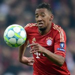 FUSSBALL   CHAMPIONS LEAGUE  HALBFFINAL HINSPIEL   2011/2012      FC Bayern Muenchen - Real Madrid          17.04.2012 Jerome Boateng (FC Bayern Muenchen)  am Ball FOTO: Pressefoto ULMER/Claus Cremer xxNOxMODELxRELEASExx