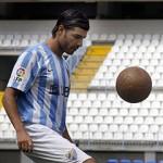 MLG 18/08/2014.-Presentación del nuevo fichaje express del Málaga CF, Miguel Torres.-ALEX ZEA.
