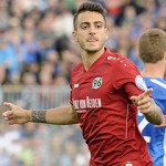 JOSELU (Hannover96,li),Torjubel nach Tor zum 1-0 mit Lars STINDL (Hannover96).Jubel,Freude,Begeisterung,,Aktion. Fussball, DFB Pokal, 1. Hauptrunde, FC Astoria Walldorf-Hannover 96. am 16.08.2014 ASTORIASTADION Walldorf.  Joselu Hannover96 left goal celebration After goal to 1 0 with Lars Stindl Hannover96 cheering happiness Enthusiasm Action shot Football DFB Cup 1 Main round FC Astoria Walldorf Hanover 96 at 16 08 2014  Walldorf