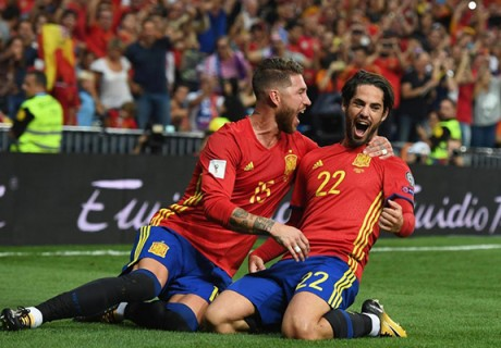 Sergio Ramos and Isco
