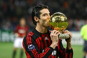 "Kaká was the last ""mortal"" to win the Ballon d'or. After him Ronaldo and Messi monopolized the award."