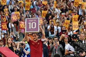 Totti and Roma, the symbol of true love for a club and its fans.